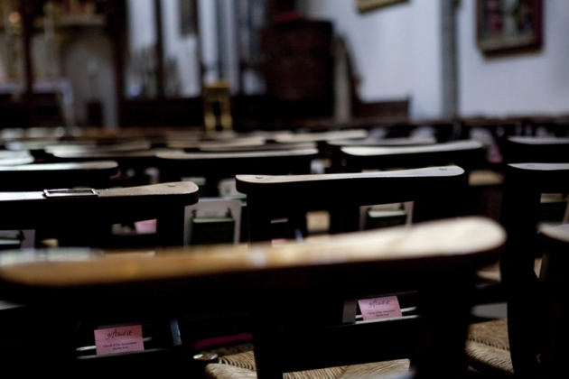 Lg Chairs in the nave